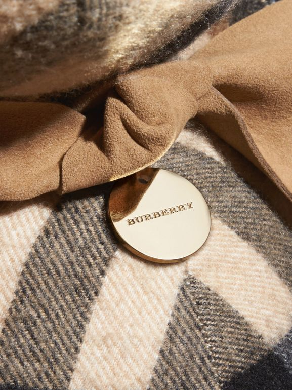 Large Thomas Bear in Check Cashmere in Camel - Children | Burberry Canada - cell image 1