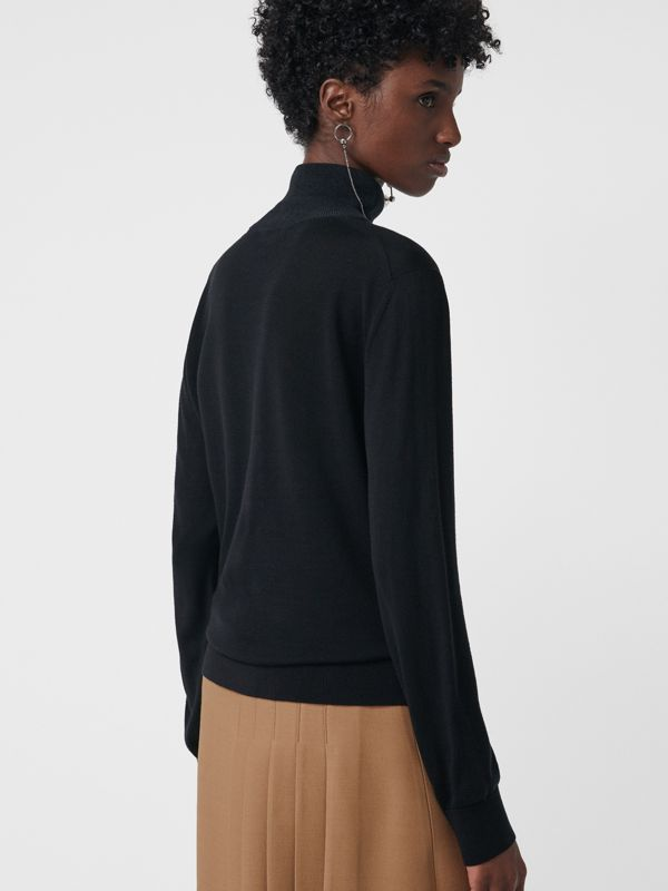 Silk Cashmere Roll-neck Sweater in Black - Women | Burberry - cell image 2