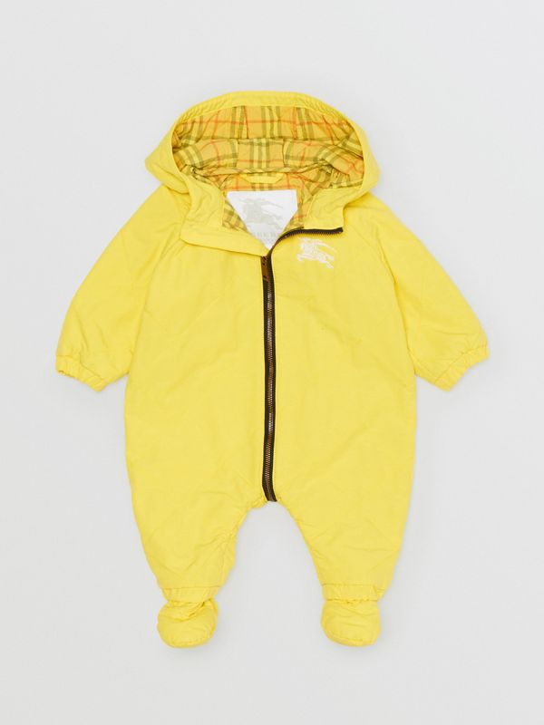 Diamond Quilted Cotton All-in-One in Yellow Citrine - Children | Burberry - cell image 2
