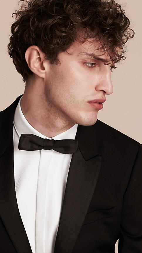 Black Satin Lapel Tuxedo Jacket - Image 6