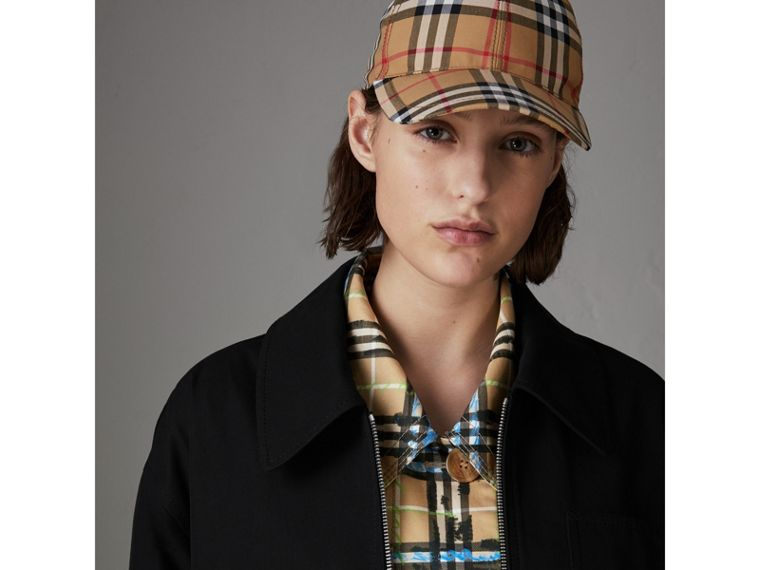 Tropical Gabardine Harrington Jacket in Black - Women | Burberry - cell image 1