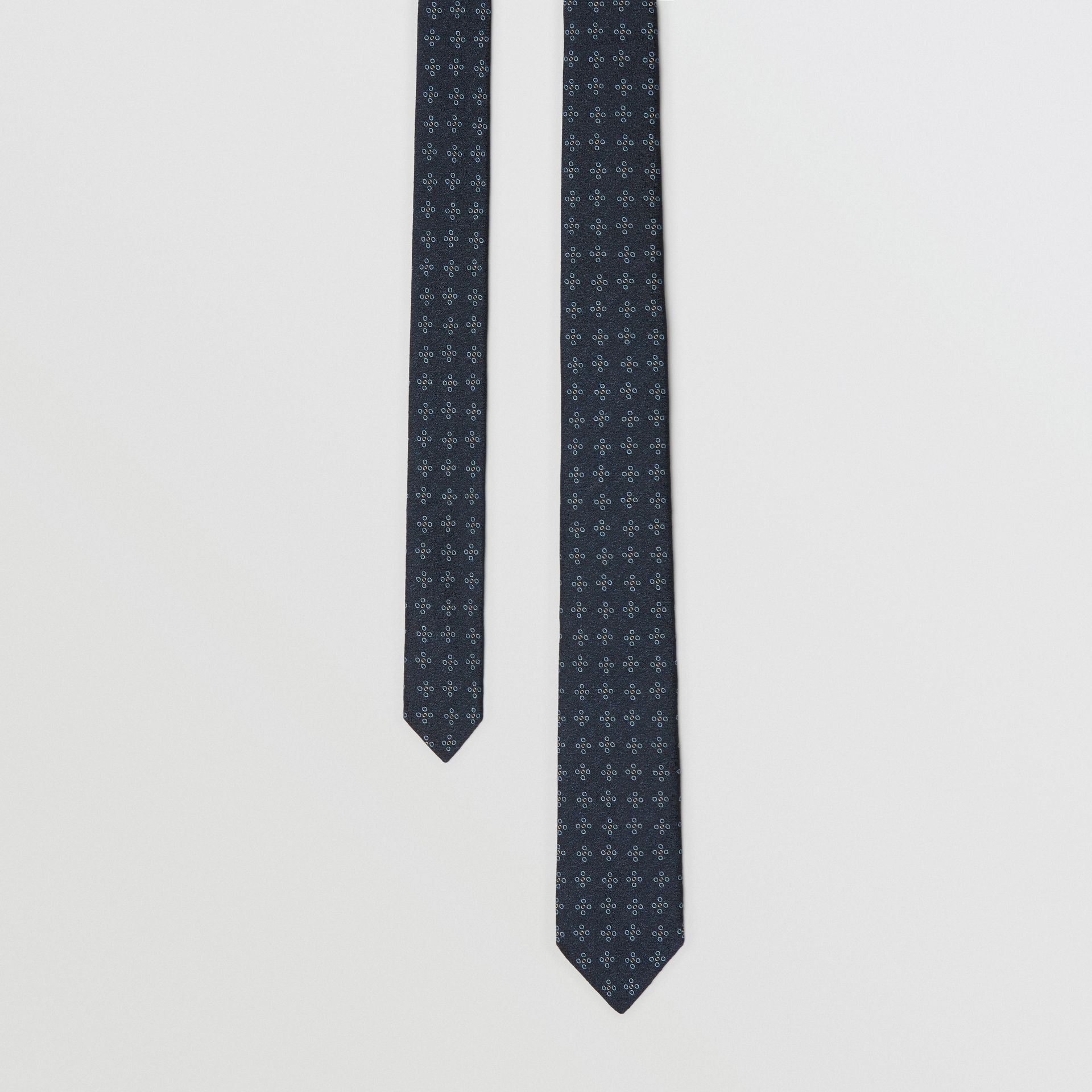 Modern Cut Graphic Floral Silk Jacquard Tie in Pale Peridot Blue - Men | Burberry - gallery image 0