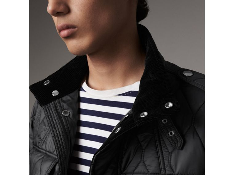 Diamond Quilted Field Jacket in Black - Men | Burberry - cell image 1