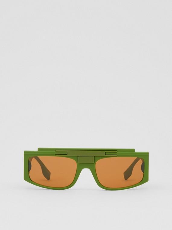 Rectangular Frame Sunglasses in Green