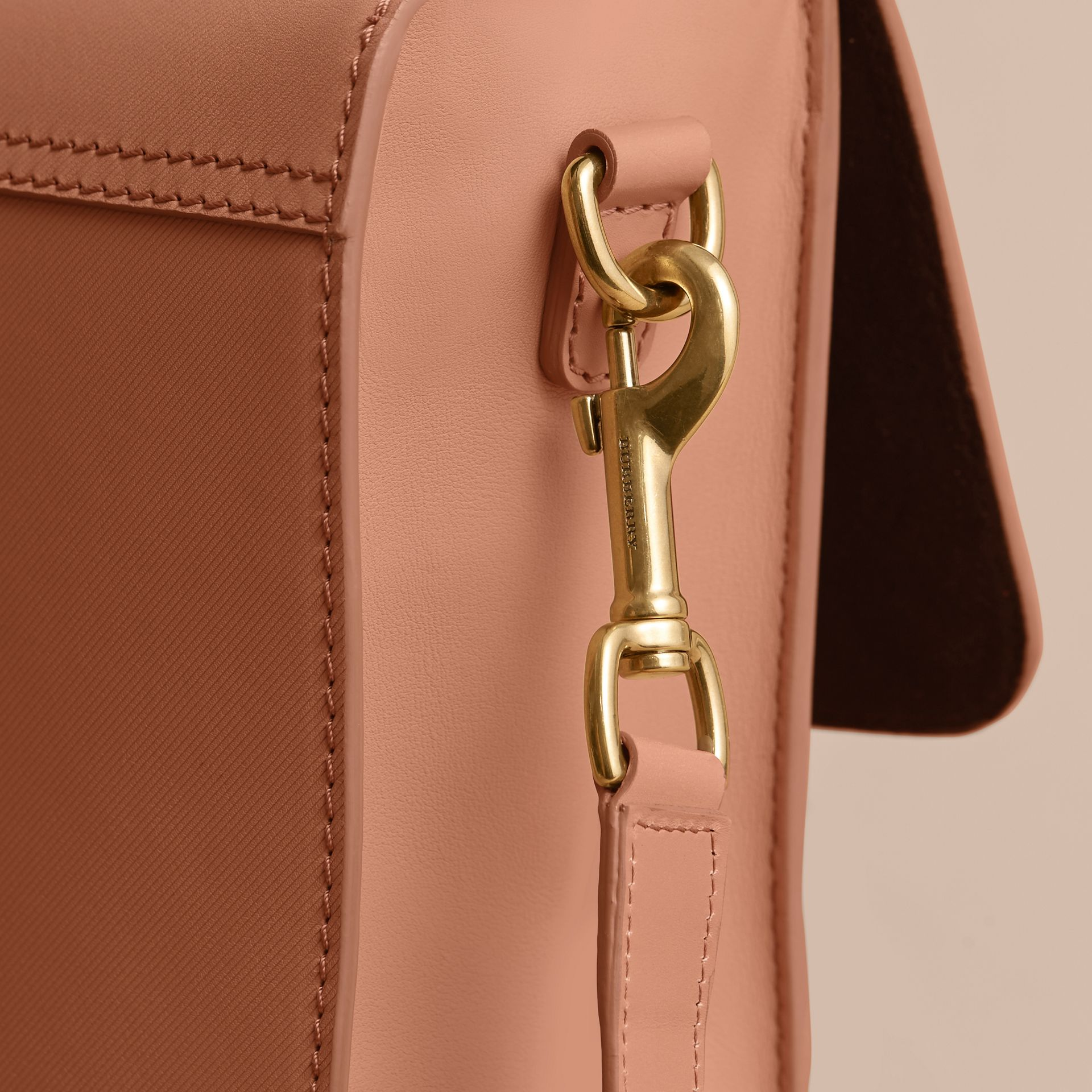 The Medium DK88 Satchel in Pale Clementine - Men | Burberry - gallery image 5