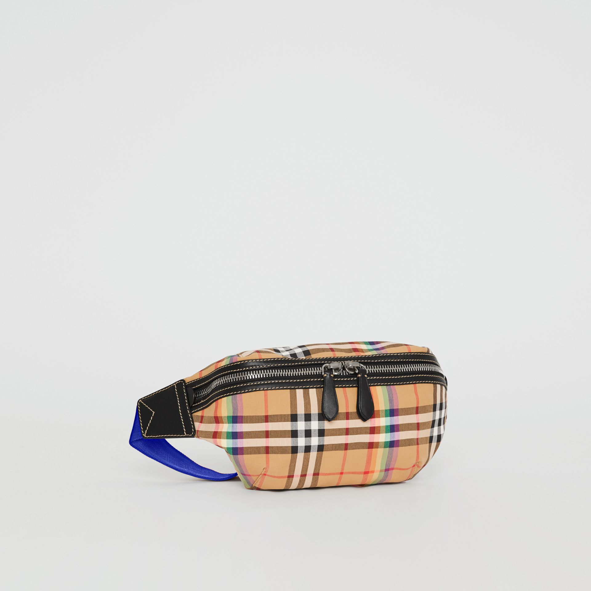Medium Rainbow Vintage Check Bum Bag in Antique Yellow | Burberry United Kingdom - gallery image 7