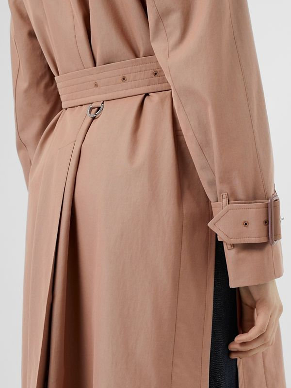 Tropical Gabardine Belted Car Coat in Pink Apricot - Women | Burberry - cell image 3
