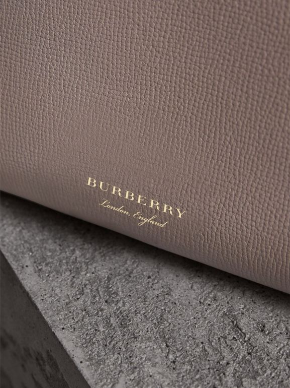 The Medium Banner in Leather and House Check in Thistle Grey - Women | Burberry United Kingdom - cell image 1