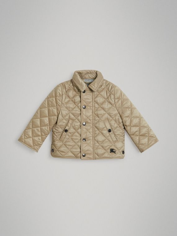 Lightweight Diamond Quilted Jacket in Mink