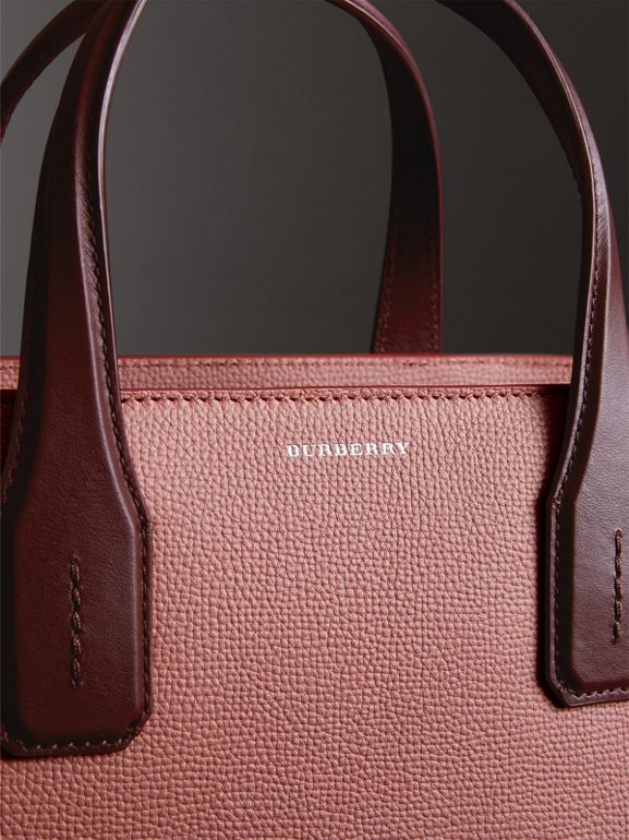 The Medium Banner in Two-tone Leather in Dusty Rose/deep Claret - Women | Burberry Singapore - cell image 1