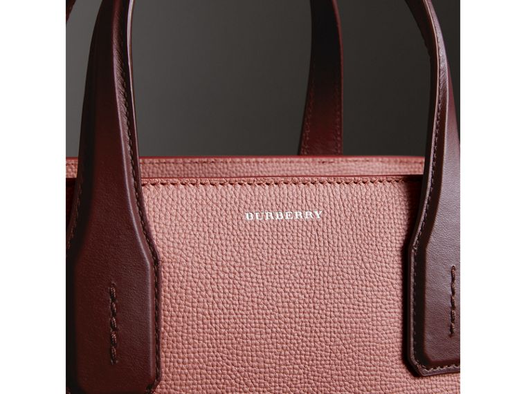 Sac The Banner moyen en cuir bicolore (Rose Cendré/bordeaux Intense) - Femme | Burberry - cell image 1