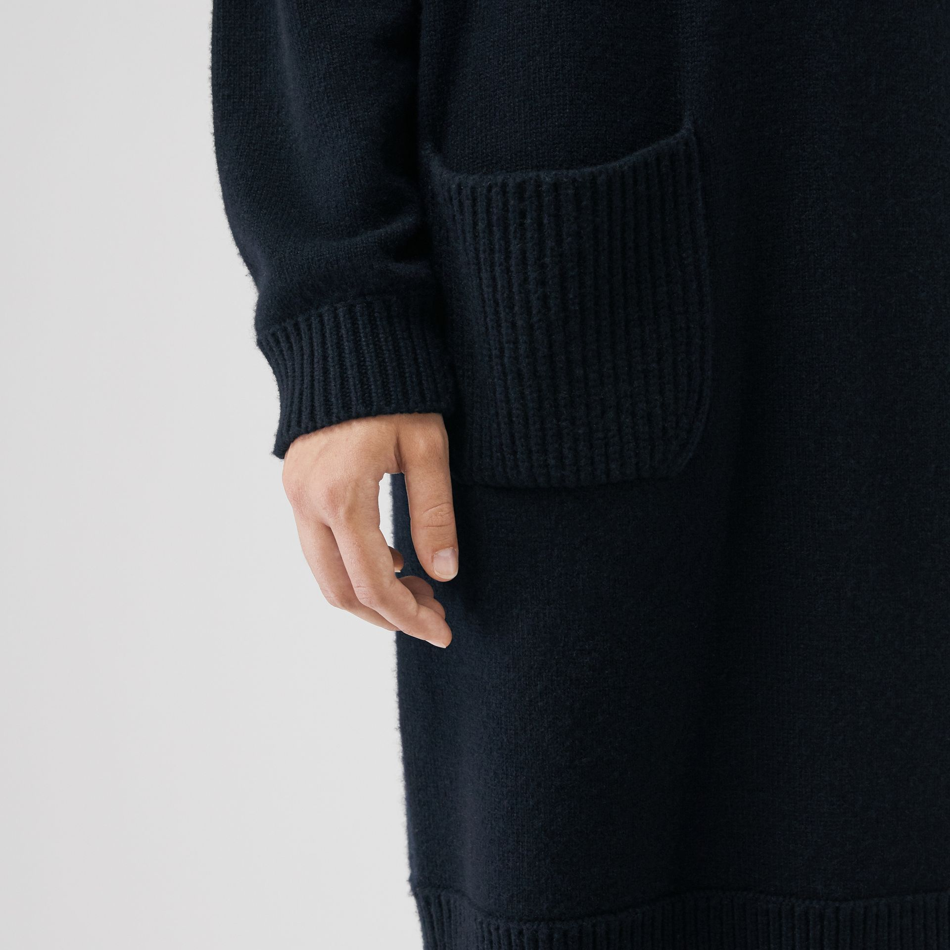Cashmere Sweater Dress in Navy - Women | Burberry United Kingdom - gallery image 4