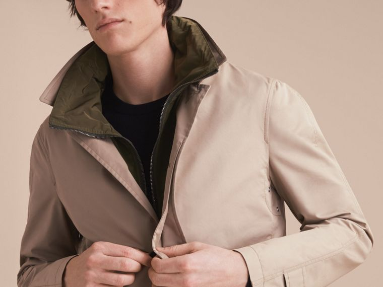Lightweight Cotton Car Coat with Detachable Gilet Stone - cell image 4