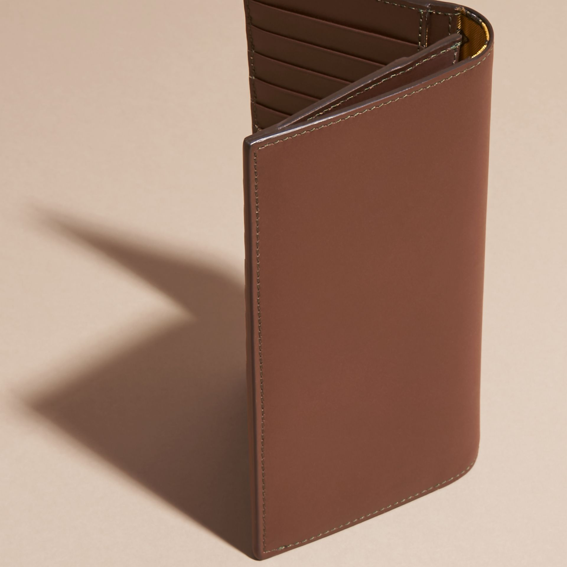 Sepia brown Smooth Leather Continental Wallet Sepia Brown - gallery image 4