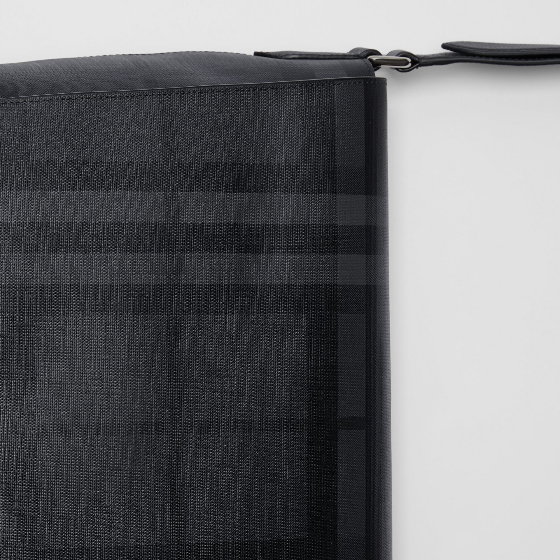 Large London Check Messenger Bag in Charcoal/black | Burberry United Kingdom - gallery image 1