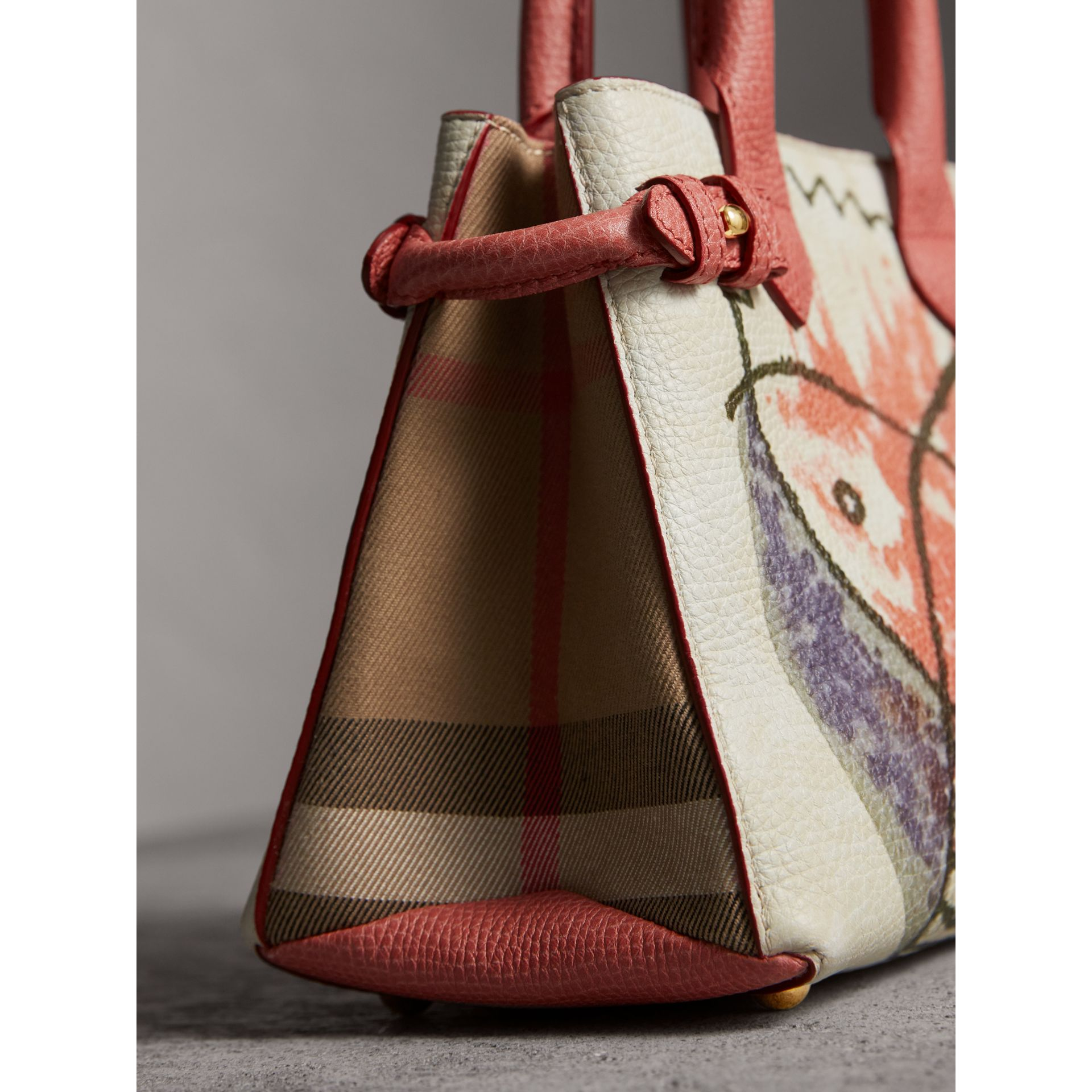 The Baby Banner in Leather with Pallas Heads Print in Cinnamon Red - Women | Burberry - gallery image 7