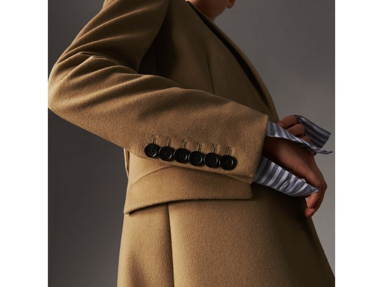 Wool Cashmere Tailored Coat in Camel - Women | Burberry - cell image 1