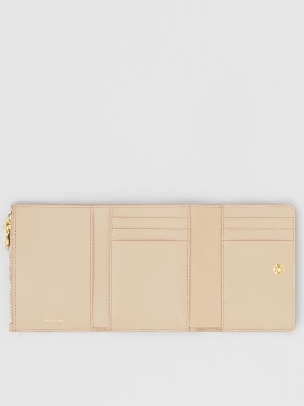 Small Vintage Check E-canvas Folding Wallet in Beige - Women | Burberry Singapore - cell image 2