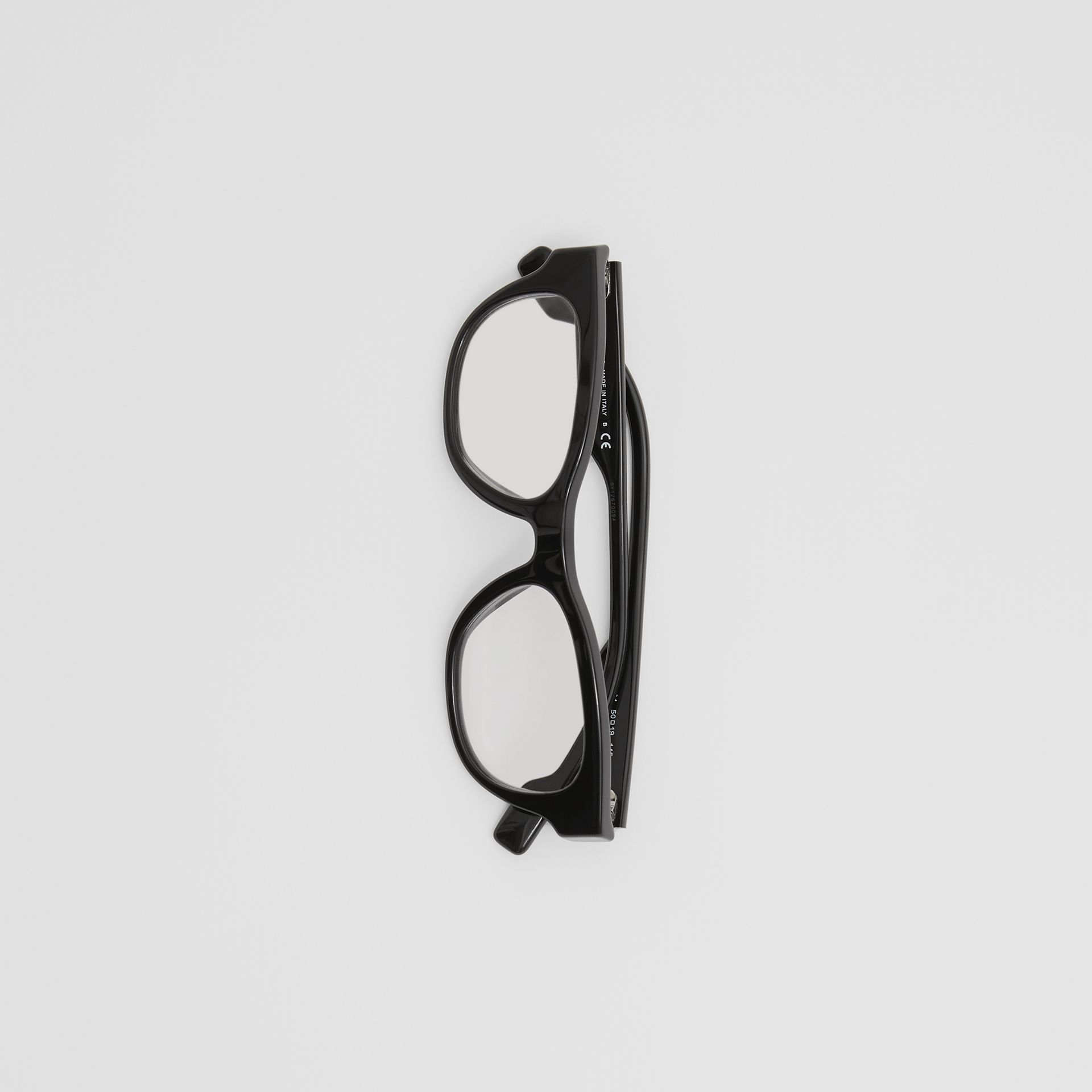 Square Optical Frames in Black - Men | Burberry - gallery image 3