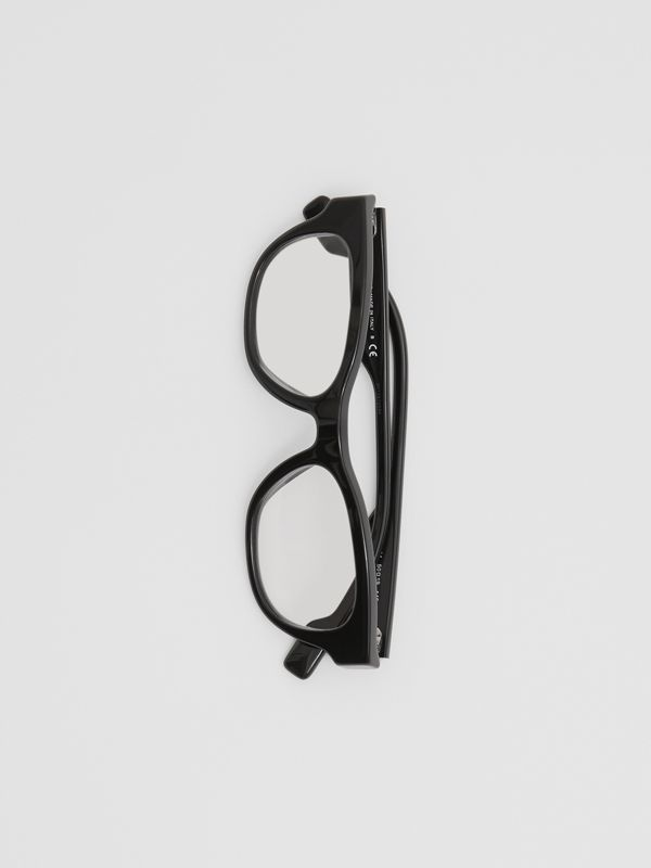Square Optical Frames in Black - Men | Burberry - cell image 3
