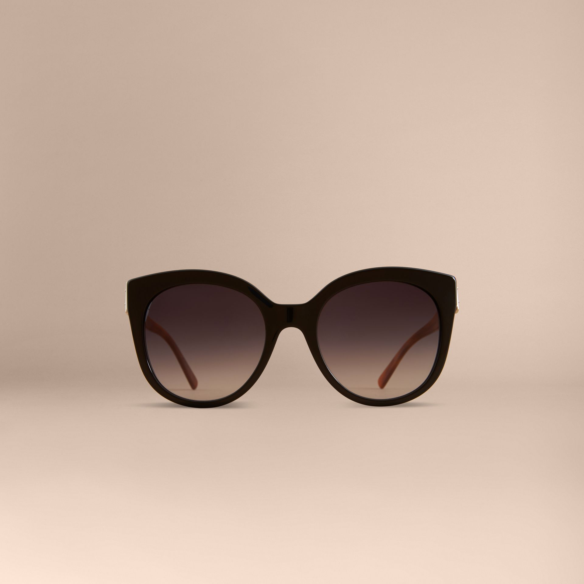 Buckle Detail Cat-eye Frame Sunglasses in Black - Women | Burberry United States - gallery image 3