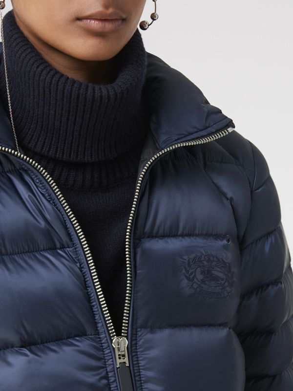 Down-filled Puffer Jacket in Navy - Women | Burberry - cell image 3