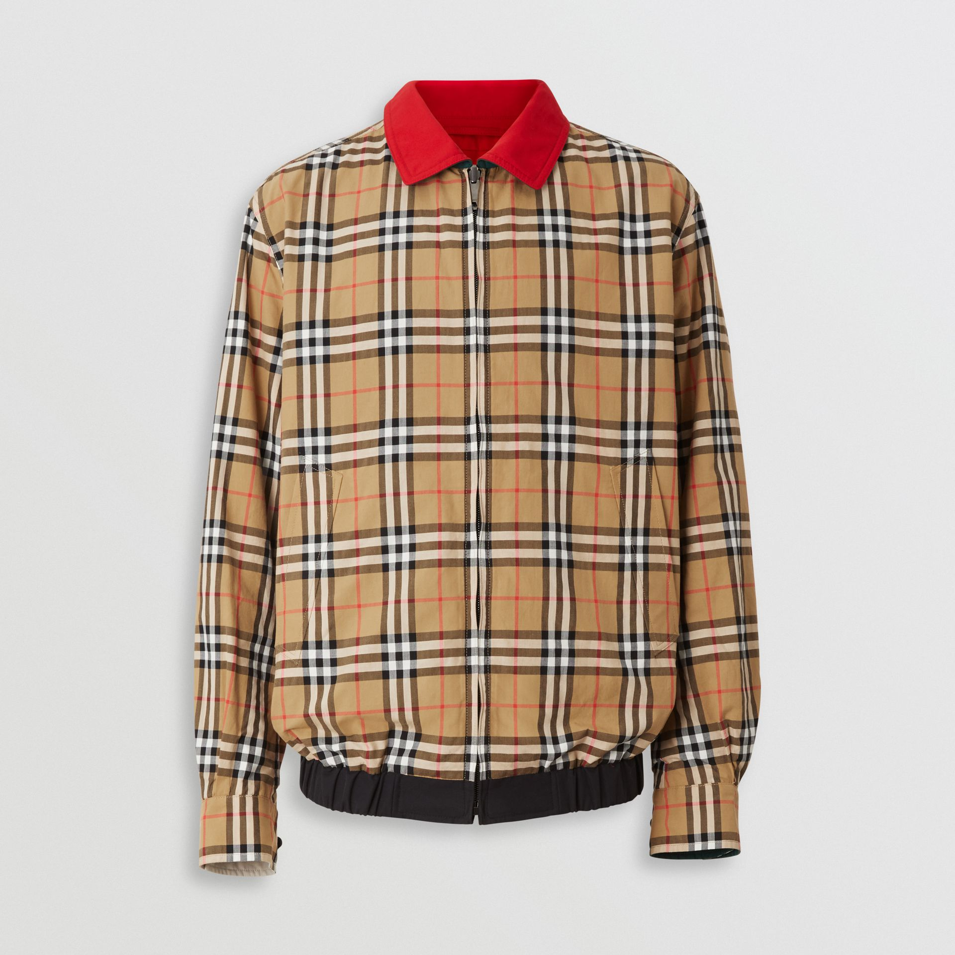 Reversible Vintage Check Harrington Jacket in Midnight - Men | Burberry - gallery image 6