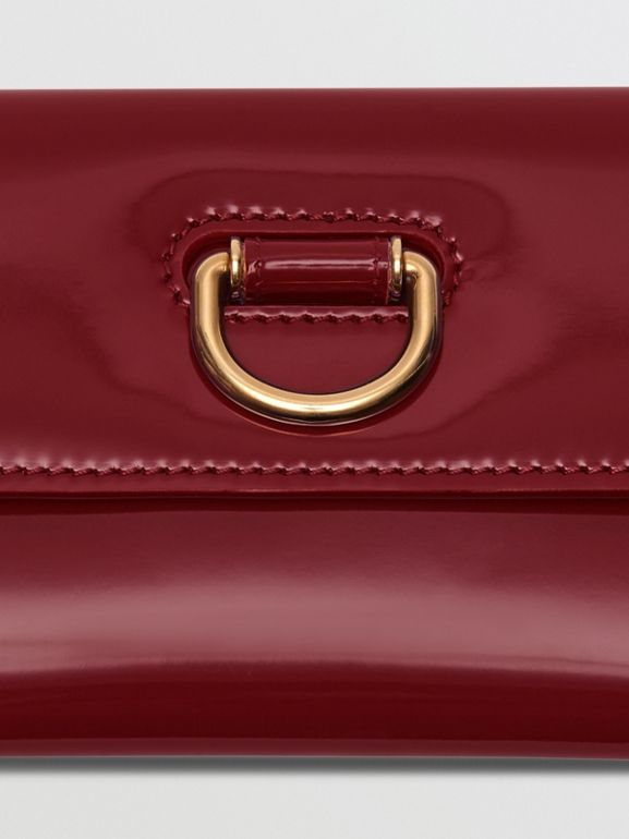 D-ring Patent Leather Continental Wallet in Crimson - Women | Burberry - cell image 1