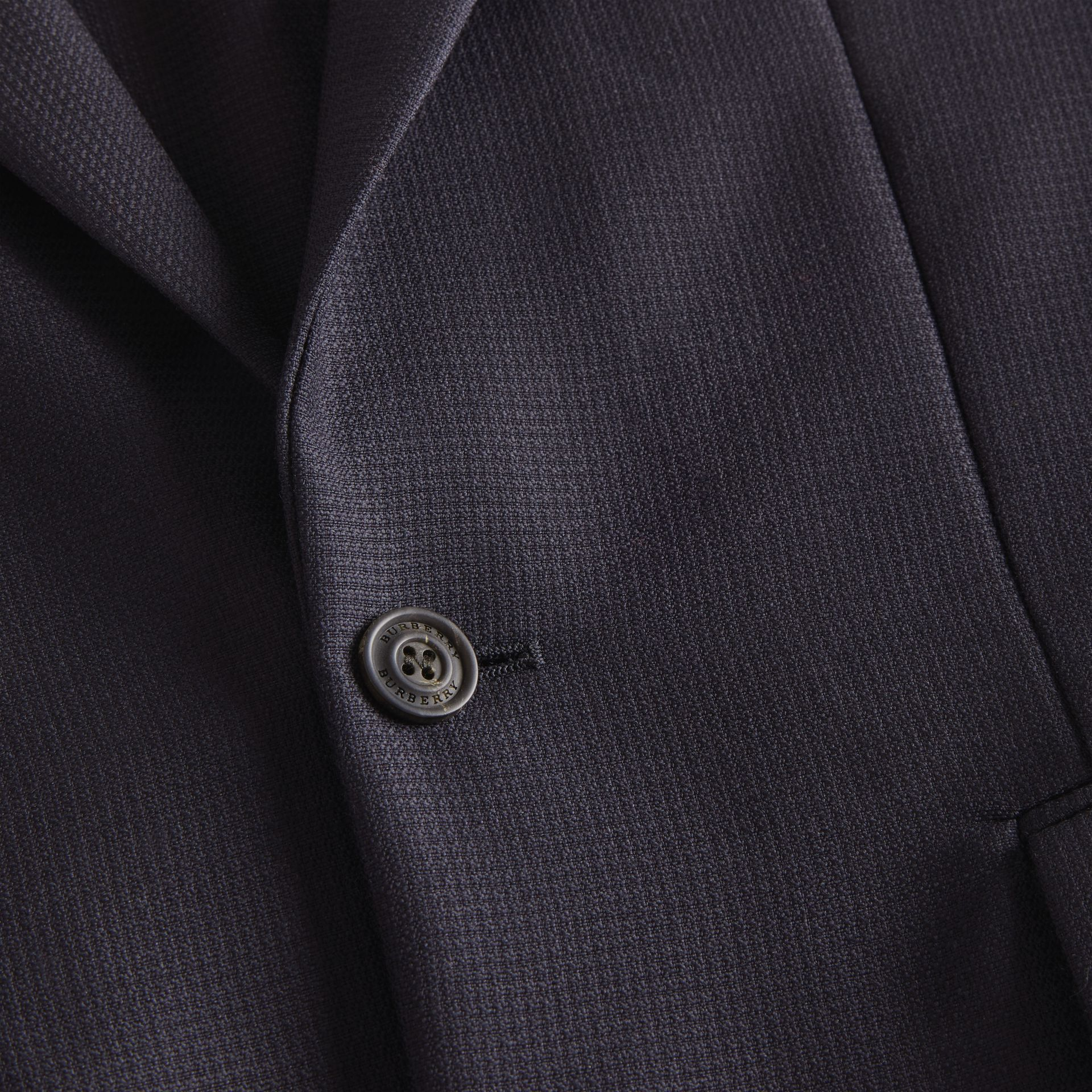 Wool Mohair Tailored Jacket in Midnight - Men | Burberry United Kingdom - gallery image 2