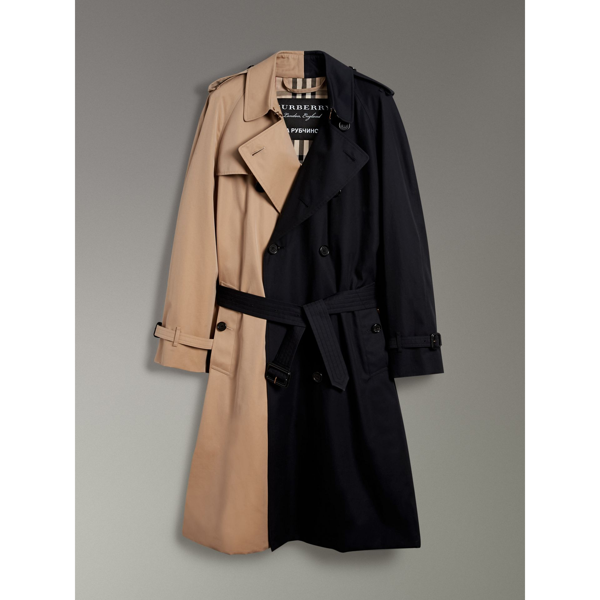 Gosha x Burberry Two-tone Trench Coat in Honey - Men | Burberry United States - gallery image 4