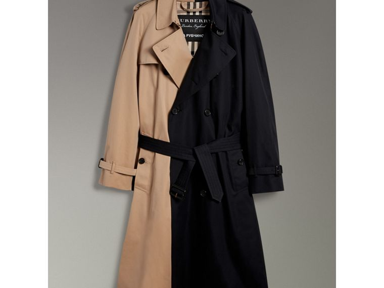 Gosha x Burberry Two-tone Trench Coat in Honey | Burberry United Kingdom - cell image 4