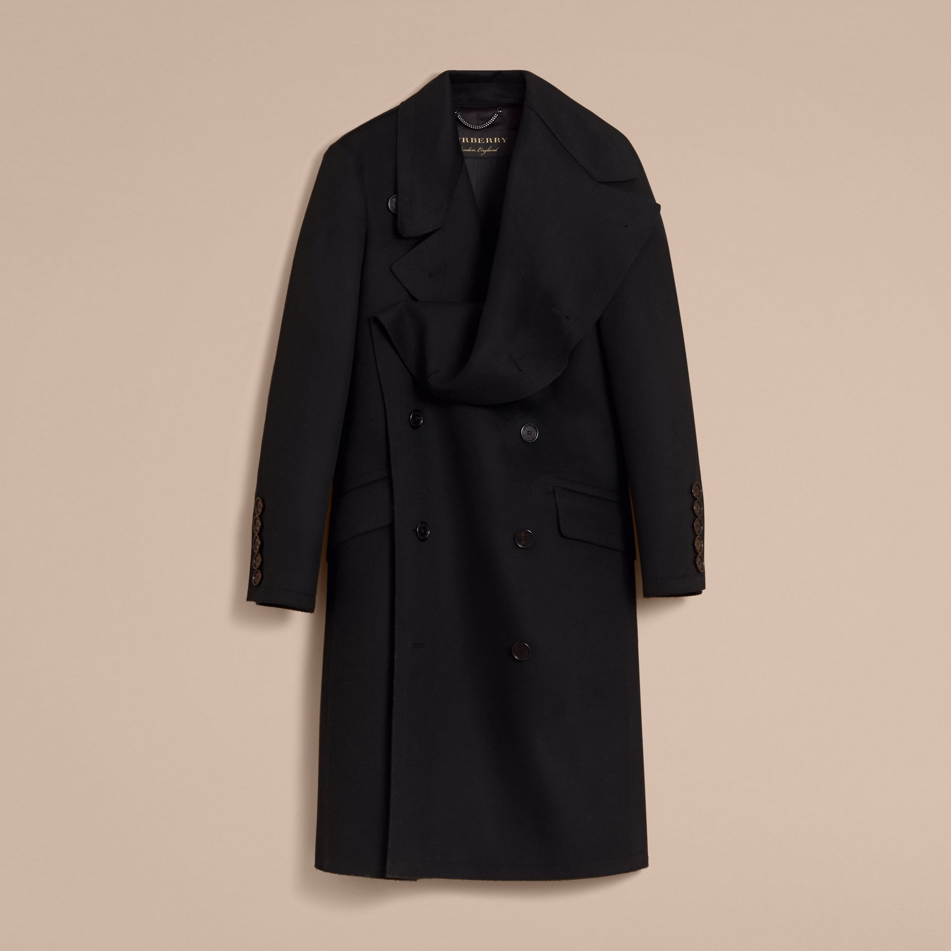 Military Wool Asymmetric Topcoat - Men | Burberry Hong Kong - gallery image 4