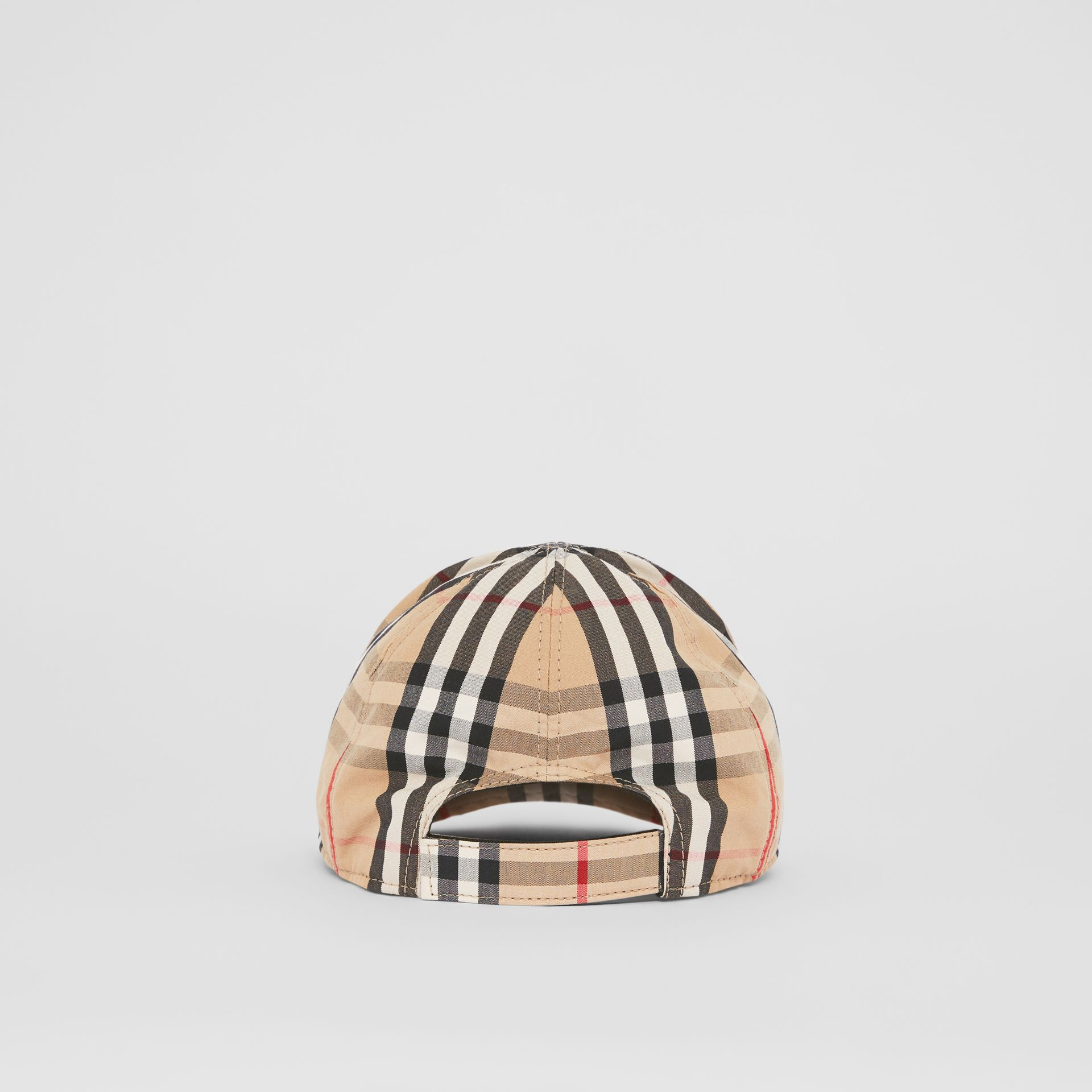 Vintage Check and Icon Stripe Baseball Cap in Archive Beige - Children | Burberry Australia - gallery image 4