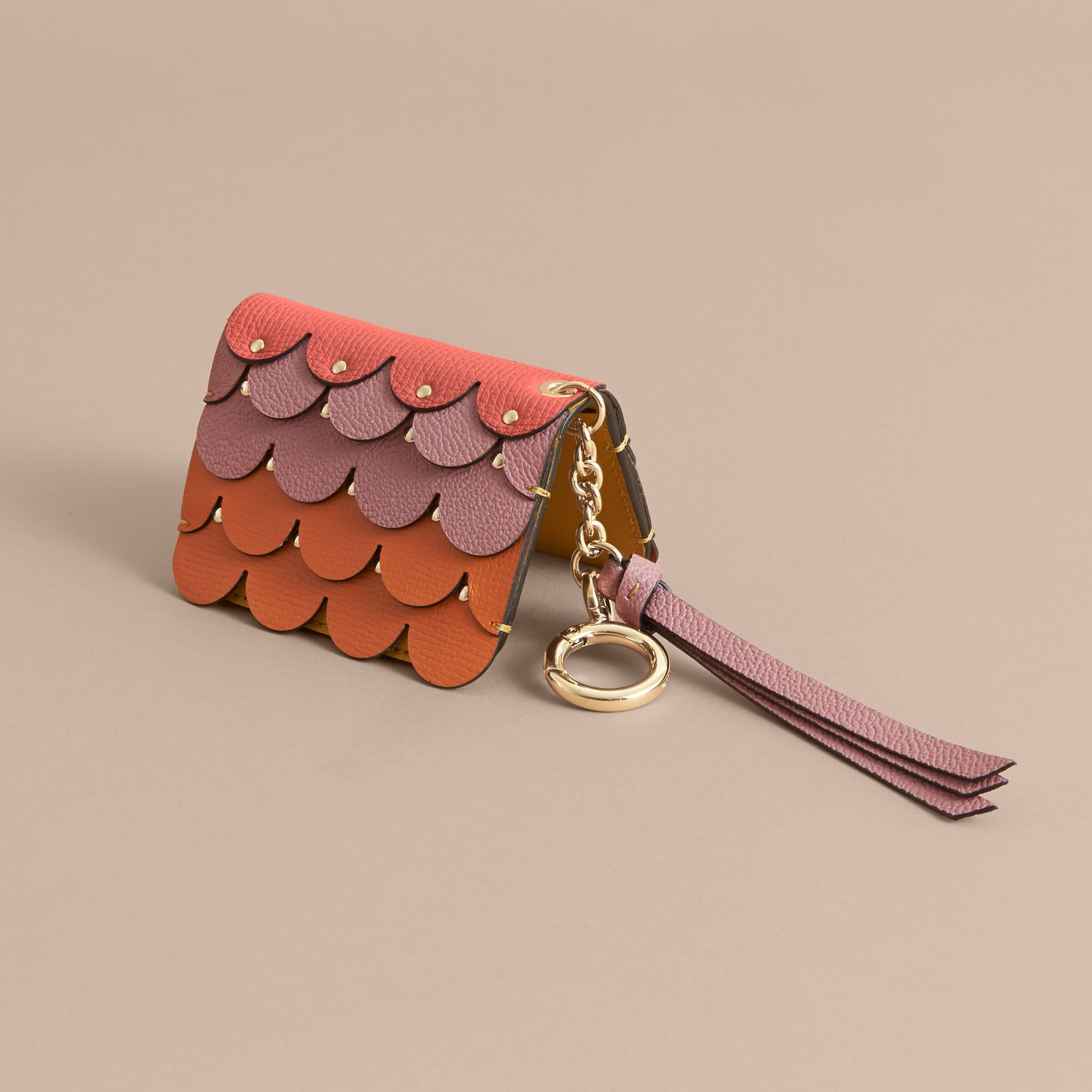 Scalloped Leather Card Case Bright Straw - gallery image 3