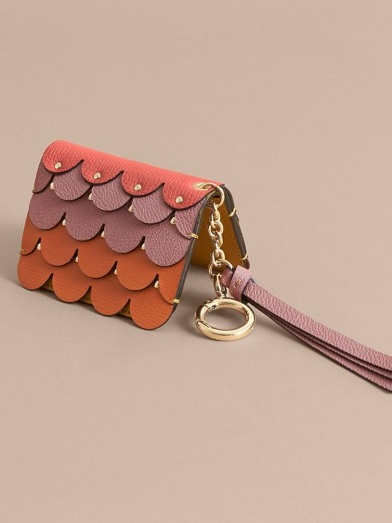 Scalloped Leather Card Case Bright Straw - cell image 2
