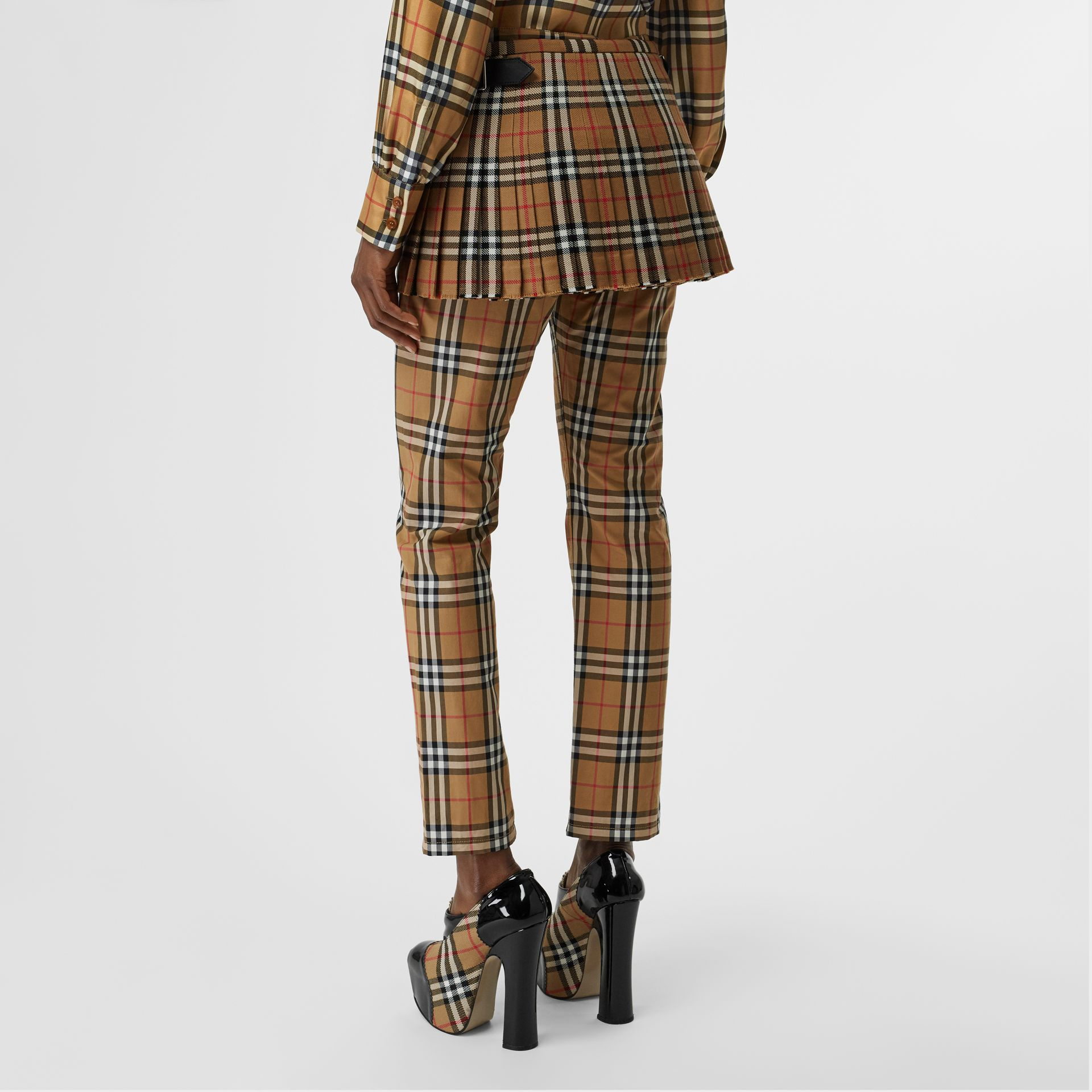 Vintage Check Wool Mini Kilt in Antique Yellow | Burberry - gallery image 2