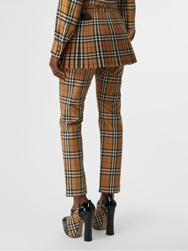 Vintage Check Wool Mini Kilt in Antique Yellow | Burberry Singapore - cell image 2