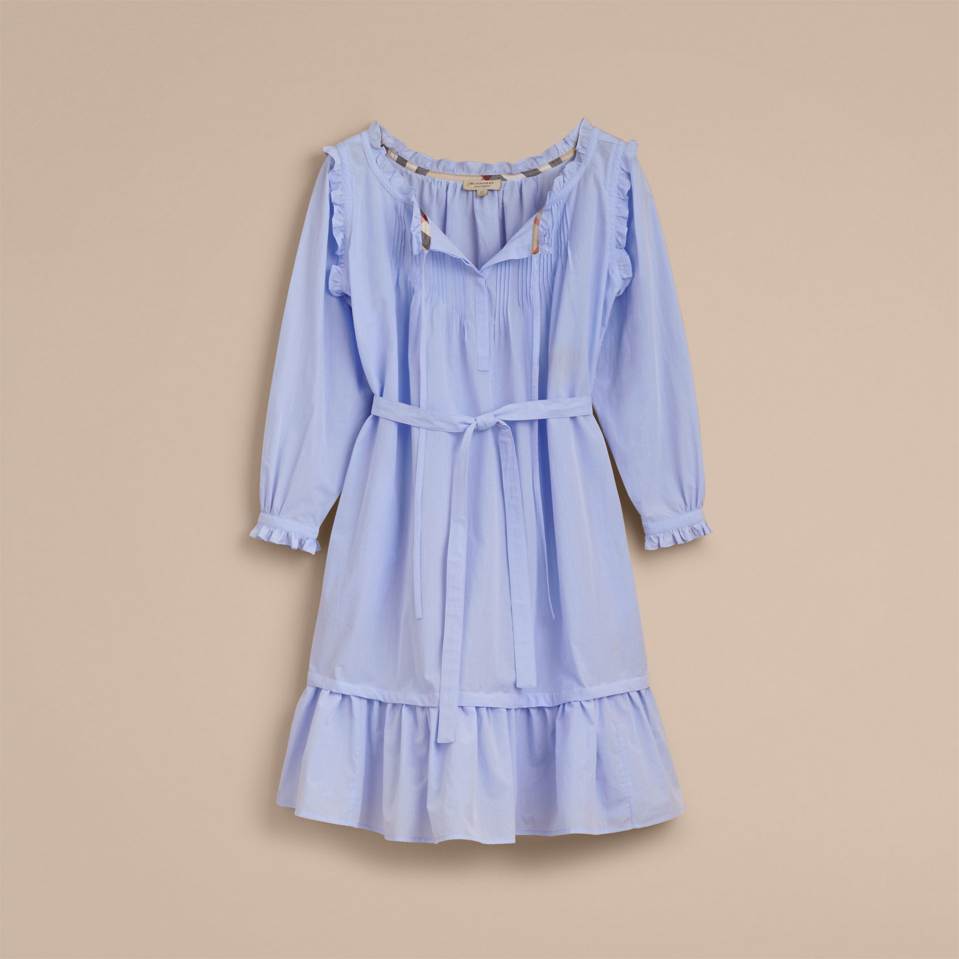 Ruffle and Pintuck Detail Cotton Dress - Women | Burberry Australia - gallery image 4