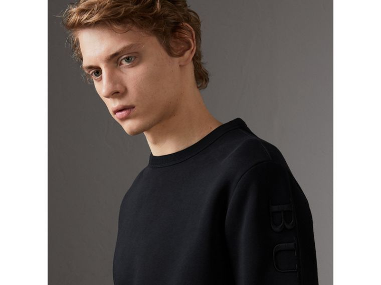 Cotton Jersey Sweatshirt in Black - Men | Burberry Canada - cell image 1