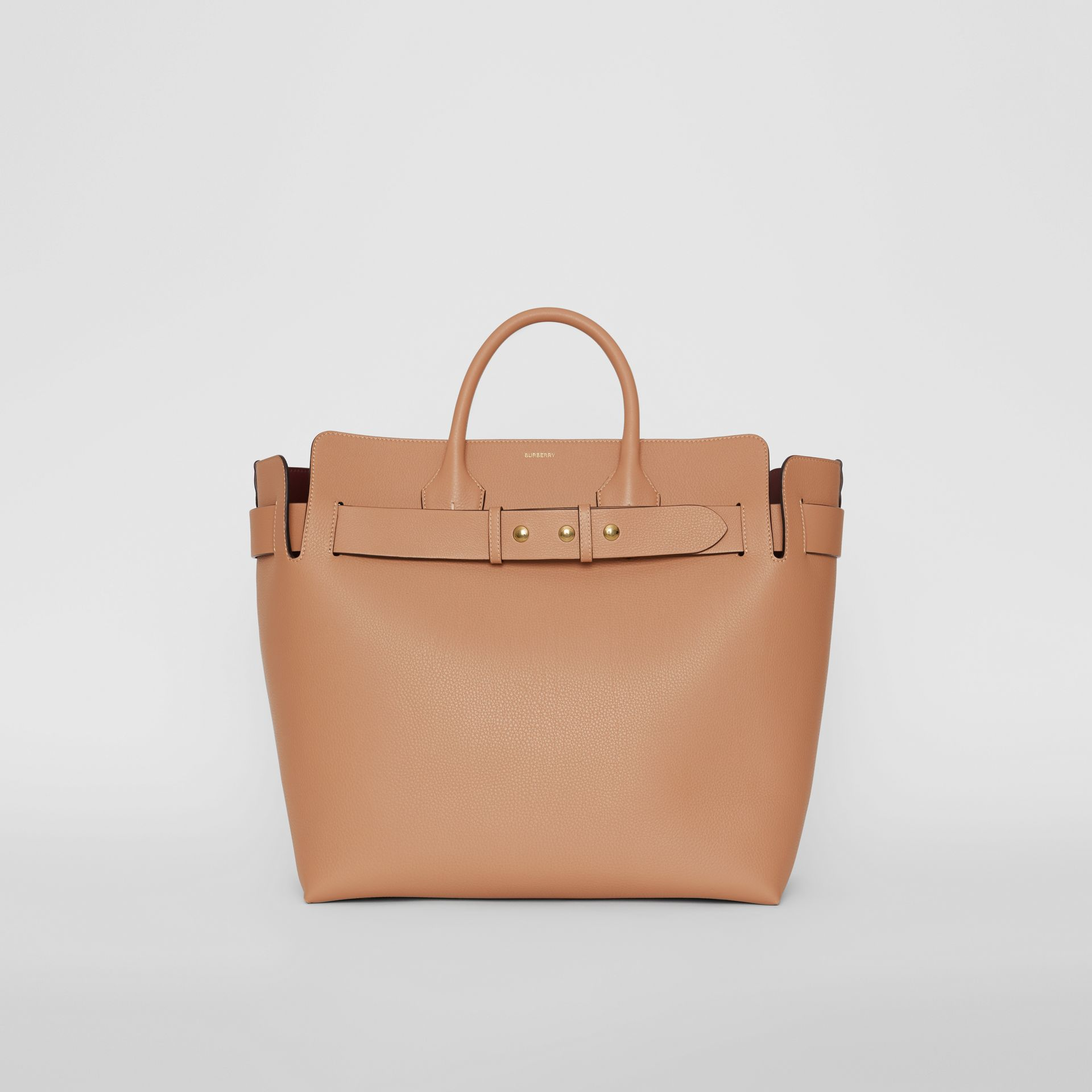 The Large Leather Triple Stud Belt Bag in Light Camel - Women | Burberry United Kingdom - gallery image 0