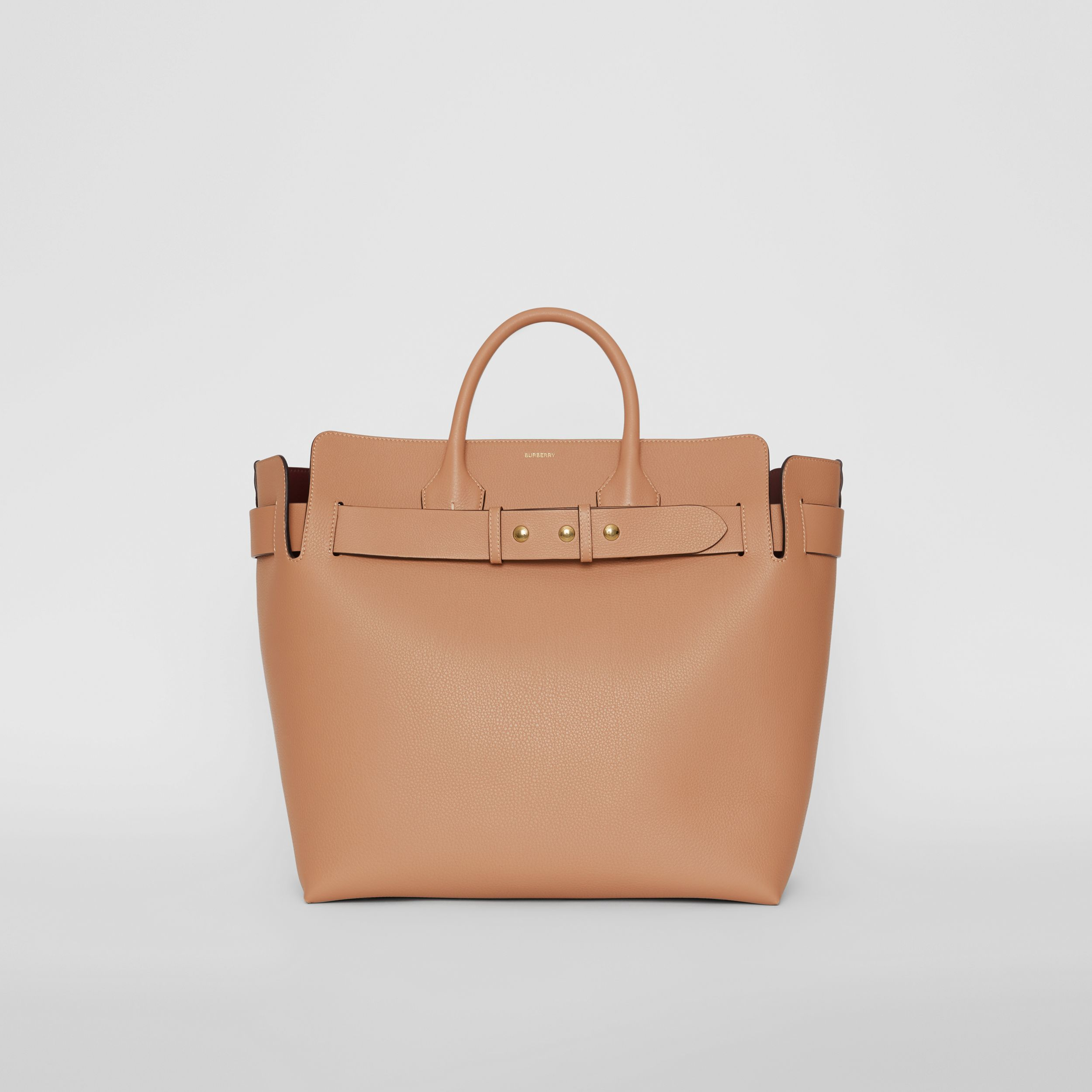 The Large Leather Triple Stud Belt Bag in Light Camel - Women | Burberry - 1
