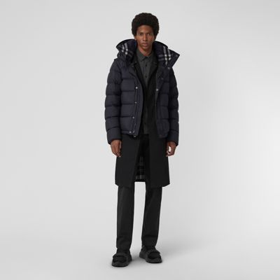 Detachable Sleeve Down Filled Hooded Puffer Jacket by Burberry