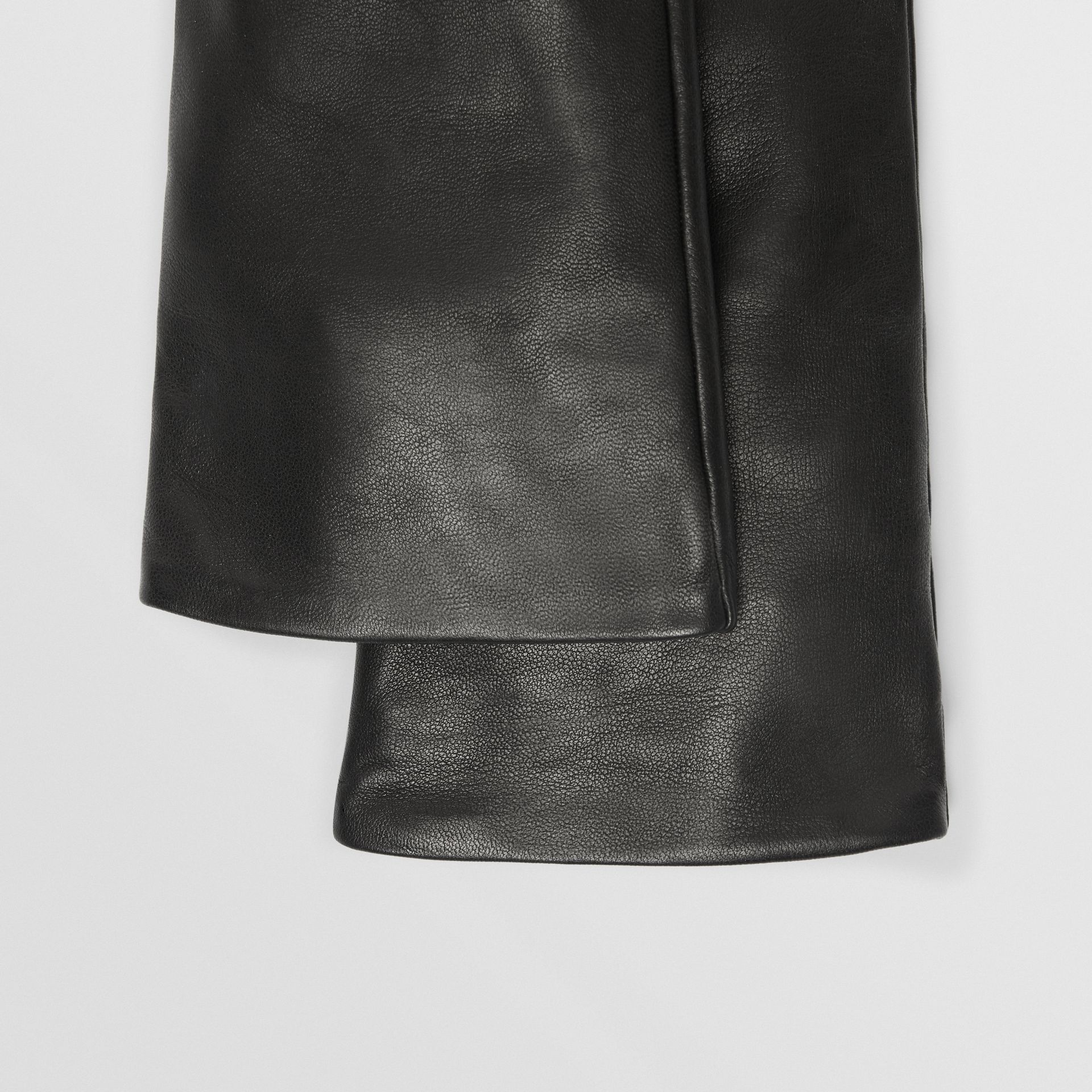 Long Silk-lined Lambskin Gloves in Black - Women | Burberry - gallery image 1