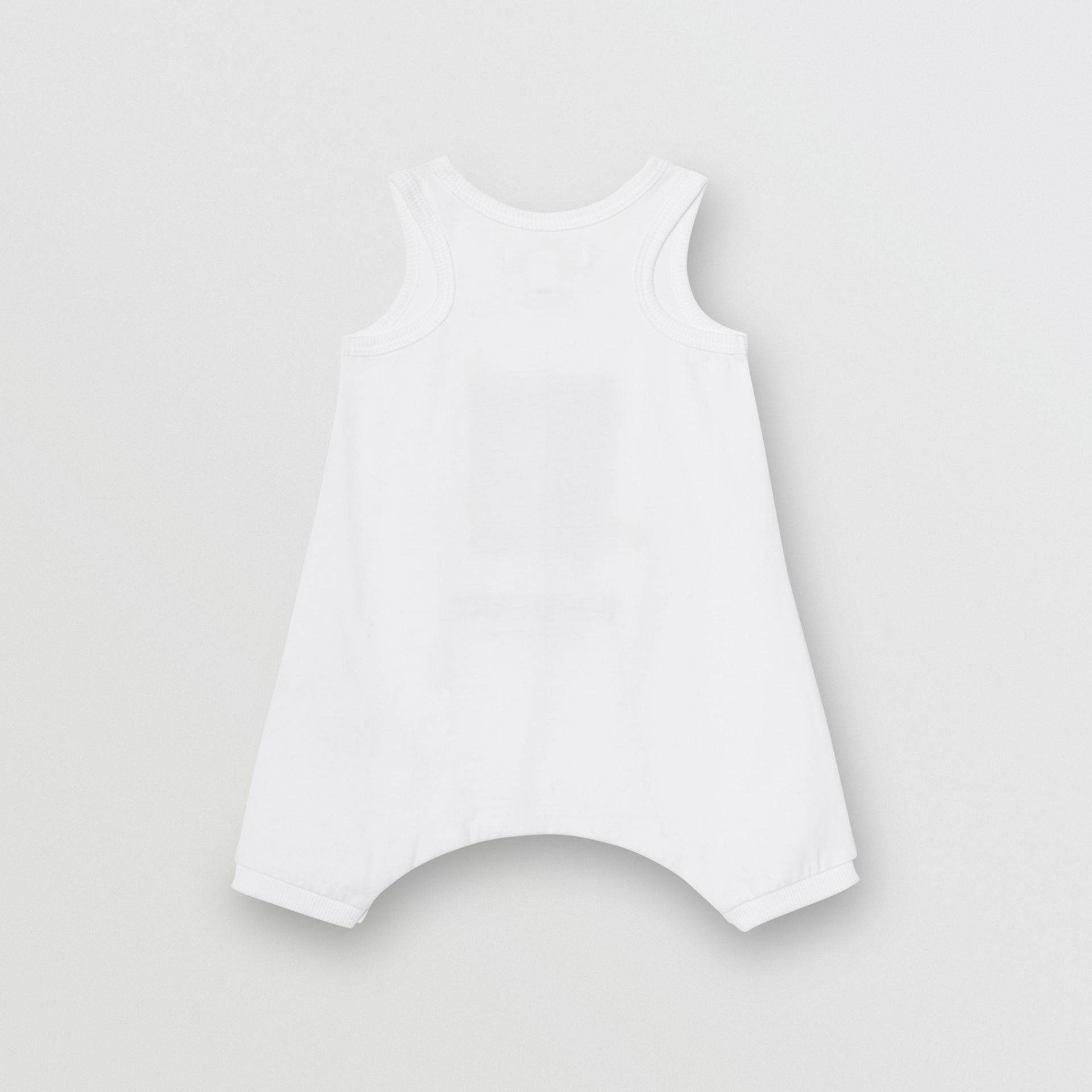 Polaroid Print Cotton Bodysuit in White - Children | Burberry Canada - gallery image 3