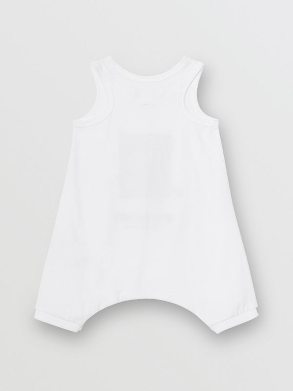 Polaroid Print Cotton Bodysuit in White - Children | Burberry - cell image 3