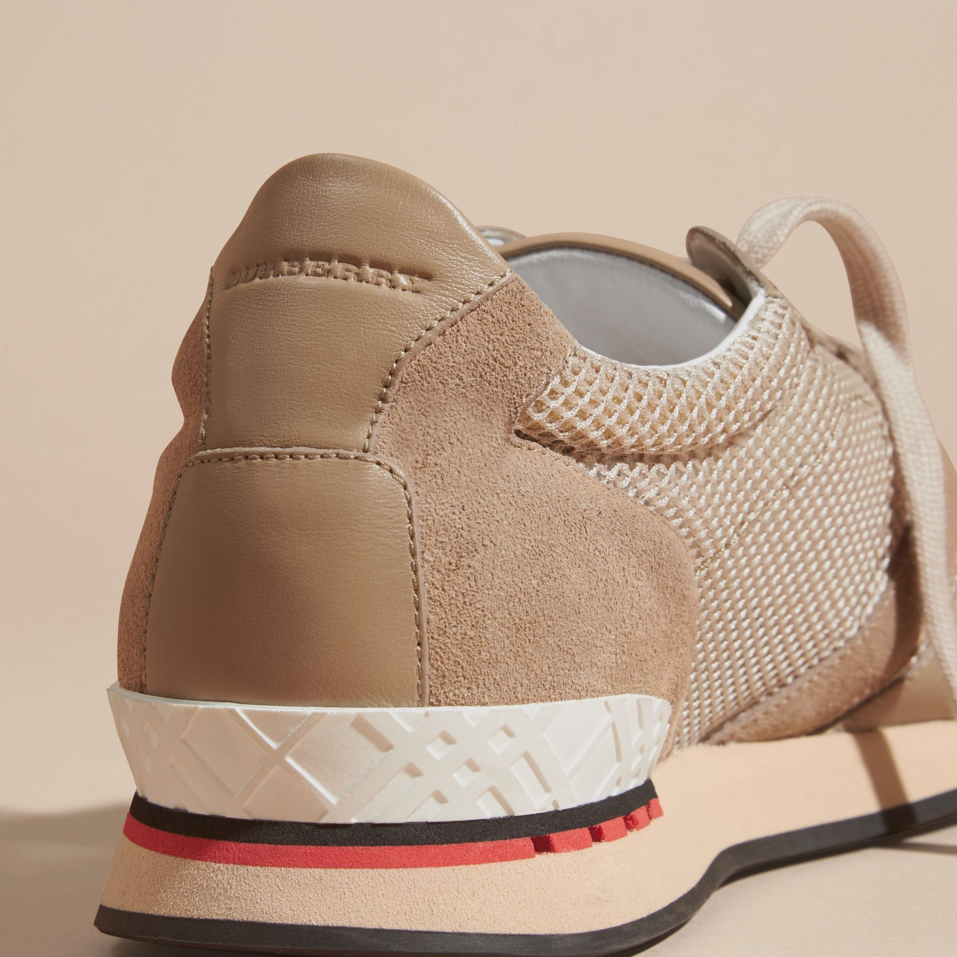 Camel The Field Sneaker in Suede and Mesh Camel - gallery image 2