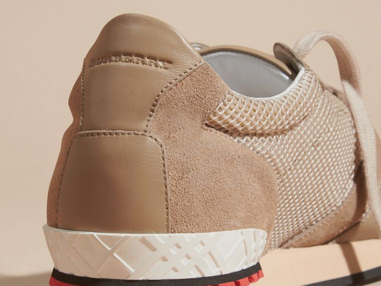 Camel The Field Sneaker in Suede and Mesh Camel - cell image 1