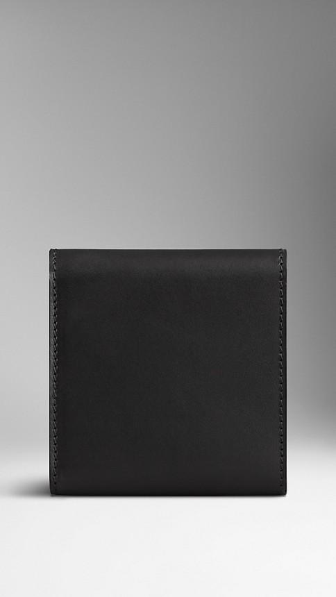 Black Sartorial Leather Cufflink Travel Case - Image 2