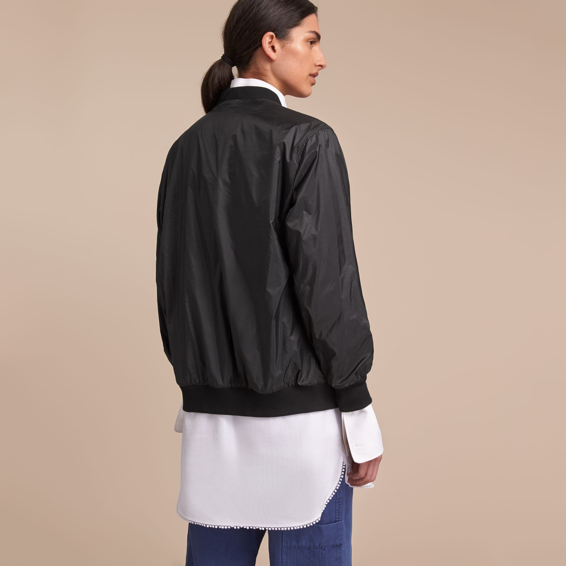 Lightweight Bomber Jacket in Black - Women | Burberry Canada - gallery image 3