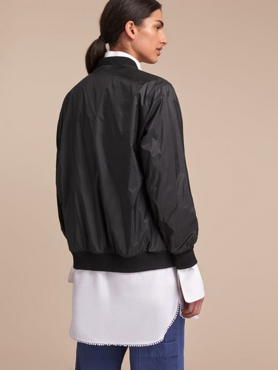 Lightweight Bomber Jacket in Black - Women | Burberry Canada - cell image 2